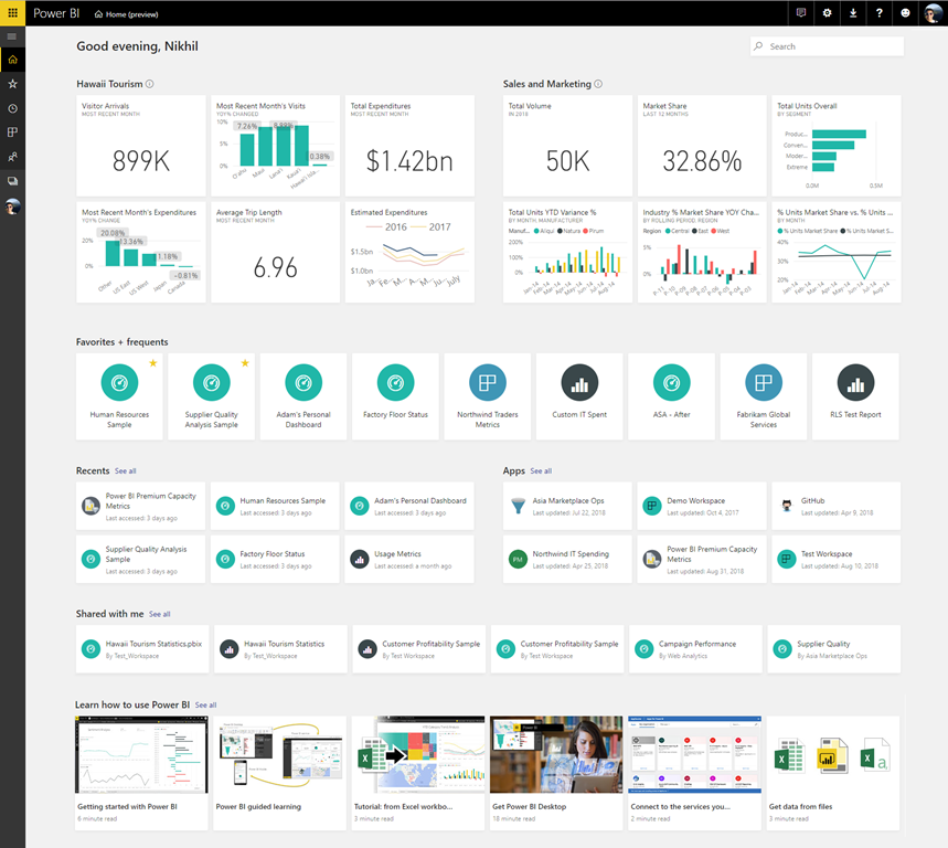 Power BI Home & Global Search Update - Gesteem